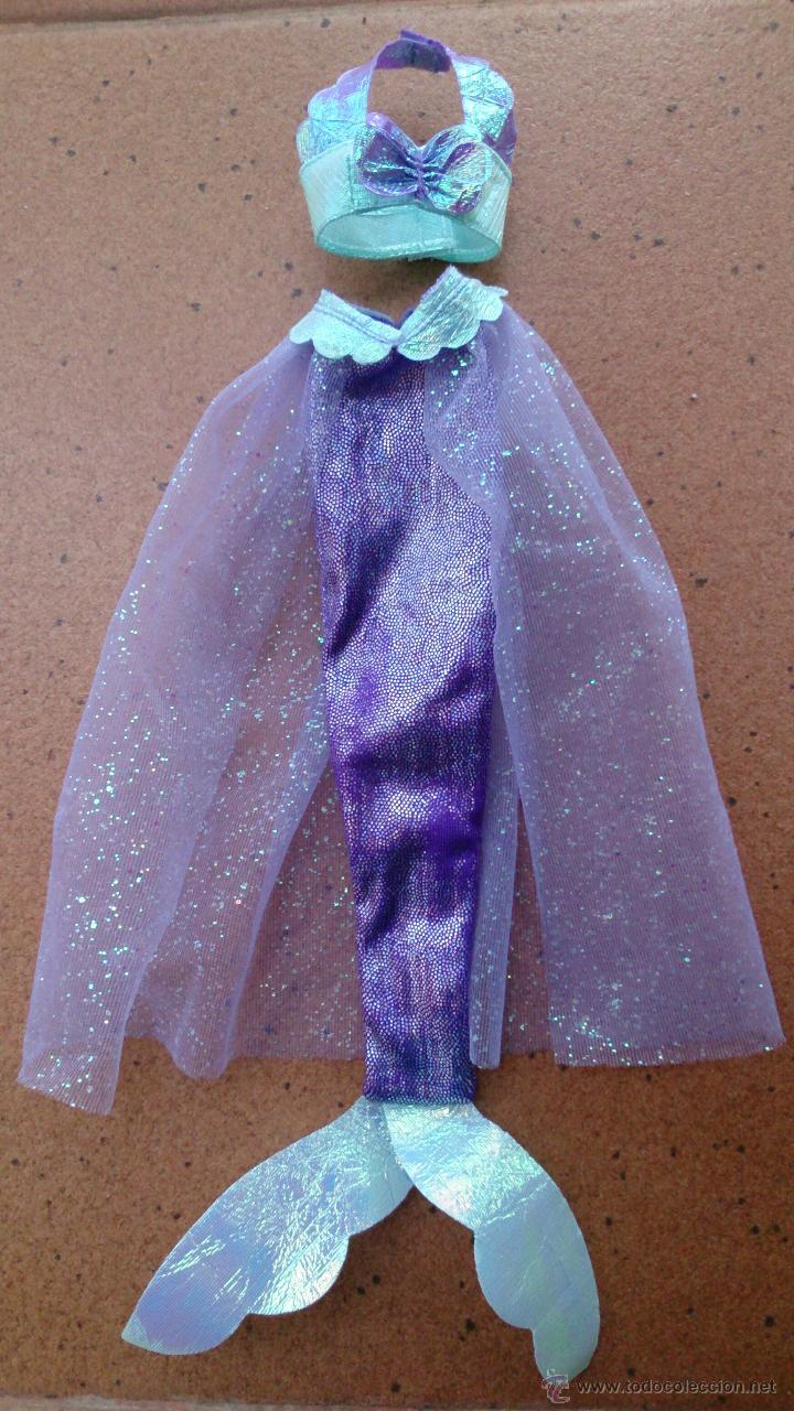 Vestido Conjunto Sirena Mermaid Muñeca Ariel La Sirenita