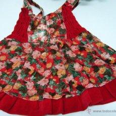 Vestidos Muñecas Españolas: VESTIDO NIÑA O MUÑECA GRANDE-TERCIOPELO ROJO, NUEVO, COMUNIÓN-NAVIDAD. Lote 49595662
