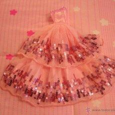 Vestidos Muñecas Españolas: VESTIDOS-VESTIDO MUÑECA BARBIE-ROSA NUEVO-PRECIOSO-LENTEJUELAS-FIESTA- BARBIE-Y SIMILARES. Lote 51349201