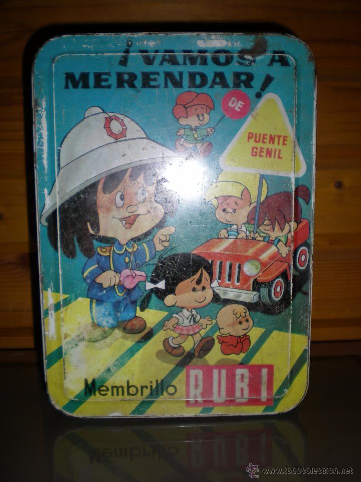 GRAN CAJA HOJALATA MUÑECA CLEO TELERIN DE LOS TELERINES DE TV AÑOS 60 DULCE MEMBRILLO (Juguetes - Vestidos y Accesorios Muñeca Española Moderna)