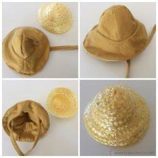 Vestidos Muñecas Españolas: LOTE DOS SOMBREROS QUE PUEDEN APROVECHAR A MUÑECA/MUÑECAS PEQUEÑAS. Lote 53819121