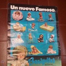 Vestidos Muñecas Españolas: ANTIGUO CARTEL DE JUGUETERIA DE BARRIGUITAS DE FAMOSA . Lote 53872387