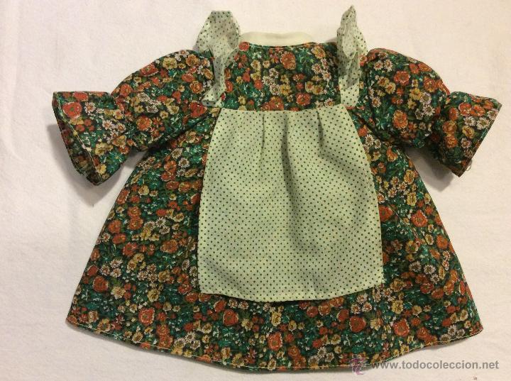 Vestidos Muñecas Españolas: Envio 8€ Vestido muñeca grande de los 70, realizado artesanalmente. Mide 24cm de cuello a orilla. - Foto 2 - 54322283
