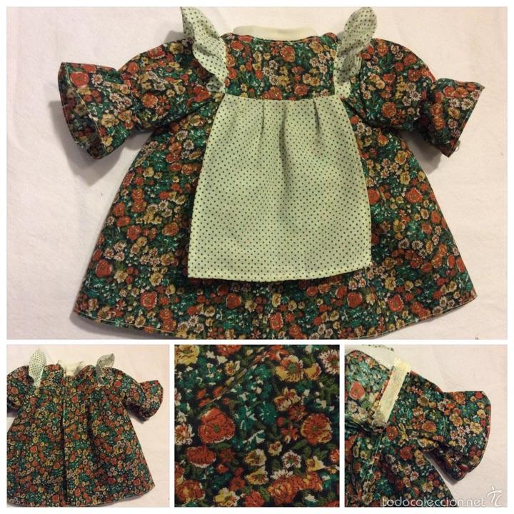 Vestidos Muñecas Españolas: Envio 8€ Vestido muñeca grande de los 70, realizado artesanalmente. Mide 24cm de cuello a orilla. - Foto 7 - 54322283