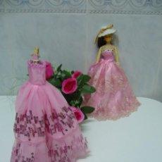 Vestidos Muñecas Españolas: VESTIDO-VESTIDOS NUEVOS PARA MUÑECAS-COMUNIÓN-ASI-MUÑECAS BARBIE O SIMILARES. Lote 55692265