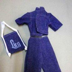 Vestidos Muñecas Españolas: CONJUNTO ORIGINAL CON BOLSO,JEANS, TALE VAQUERA, MUÑECA LISSI, 1970S, SIN USO. Lote 56474894