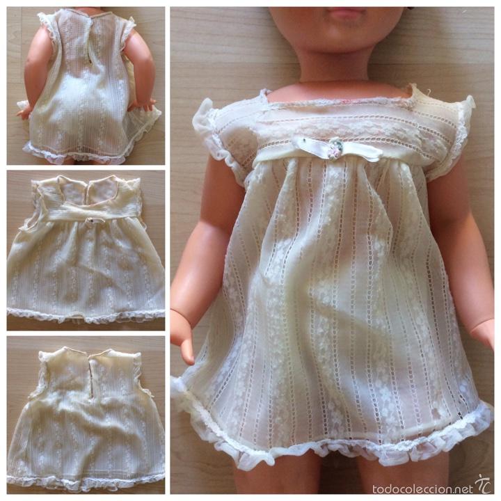 Vestidos Muñecas Españolas: Envío 6€. Salto de cama de muñeca PIERINA autentico. Se vende solo el vestido. - Foto 6 - 58118974