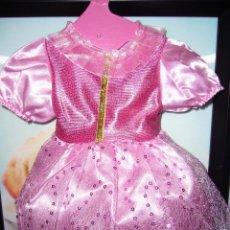 Vestidos Muñecas Españolas: VESTIDO MUÑECA- NUEVO-BRILLANTE-ROSA.PRECIOSO-FIESTA-. Lote 58673271