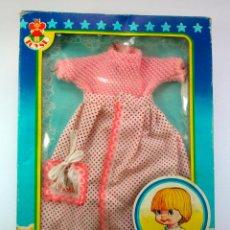 Vestidos Muñecas Españolas: CAJA VESTIDOS BABY MOCOSIN TOYSE DRESSES HABILLAGES VINTAGE 1970-80. Lote 63181388