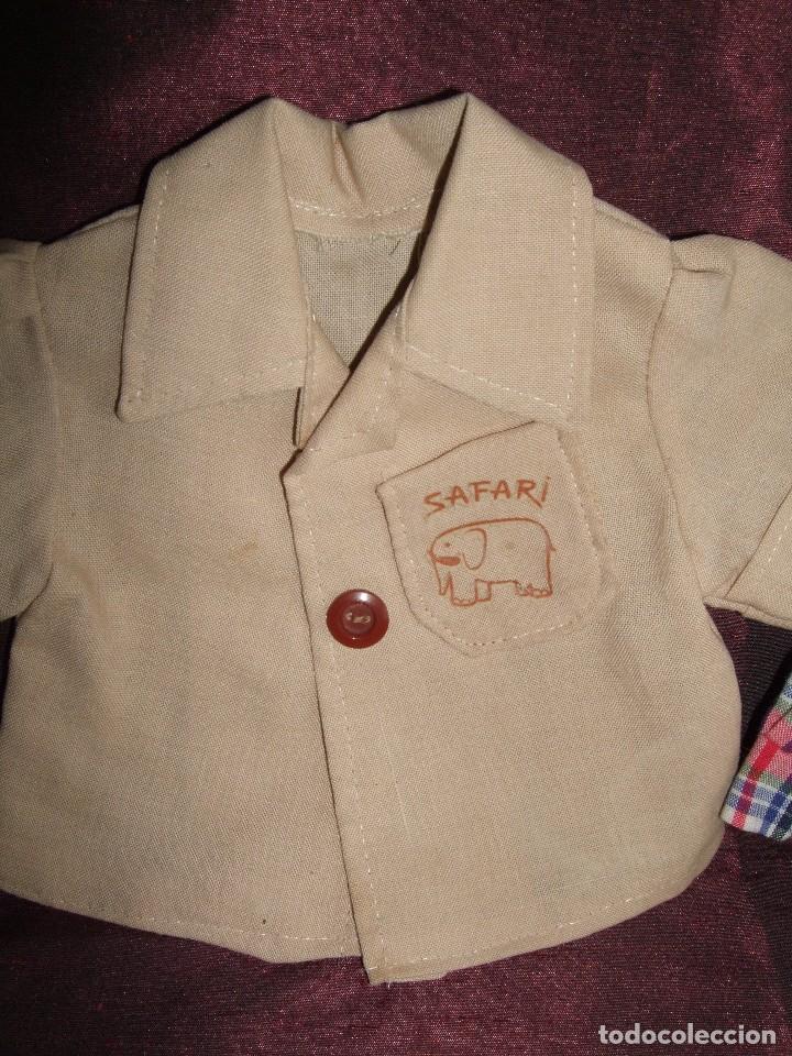 Vestidos Muñecas Españolas: ANTIGUAS CAMISA MUÑECO BABY MOCOSETE. SAFARI Y ESCOCESA.DOS. NENUCO - Foto 3 - 65472426