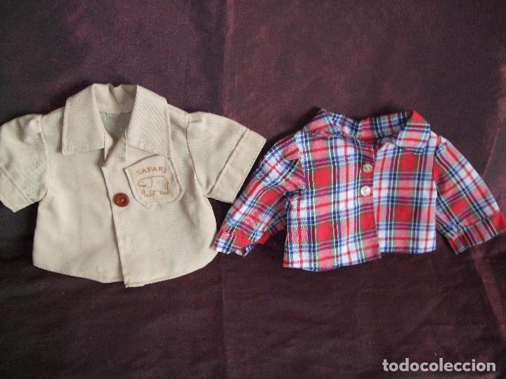 Vestidos Muñecas Españolas: ANTIGUAS CAMISA MUÑECO BABY MOCOSETE. SAFARI Y ESCOCESA.DOS. NENUCO - Foto 5 - 65472426