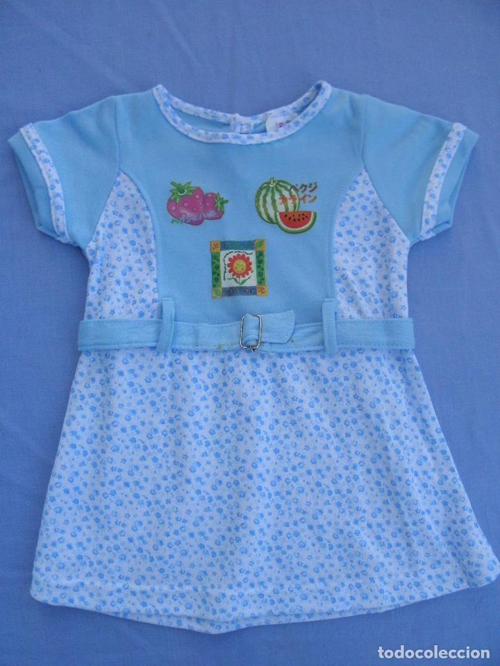 Vestido Azul Y Blanco Para Muñeca Bebé O Reborn