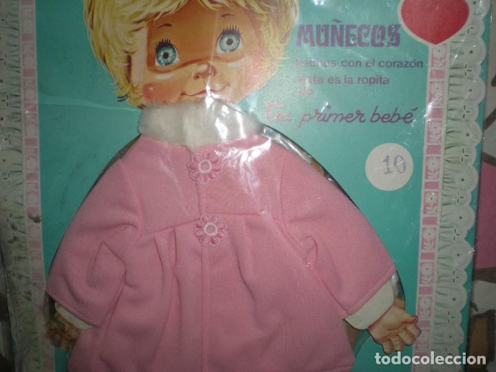 Vestidos Muñecas Españolas: dificil vestido + muñeca recortable tu primer bebe de feber muñecos con corazón años 60/70 sin uso - Foto 2 - 78324001