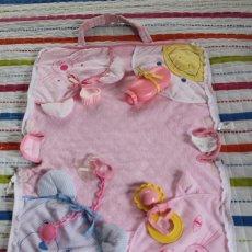 Vestidos Muñecas Españolas: BOLSO CAMBIADOR BABY LOU ZAF CREATION-BABY BORN-AÑOS 90. Lote 79977905