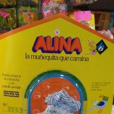 Vestidos Muñecas Españolas: VESTIDO AZUL CENEFA ALINA.MUÑECAS BB 70S.NUEVO.. Lote 98805535