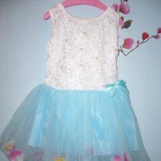 Vestidos Muñecas Españolas: VESTIDO MUÑECA BAILARINA GRANDE O NIÑA- ASI--NUEVO-COMUNIÓN-NAVIDAD-PRECIOSOS-ROSA-AZUL-ROJO. Lote 81703324