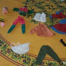 Vestidos Muñecas Españolas: LOTE DE ROPA DE CHABEL,BOLSO , ZAPATOS Y CABEZA DE LA HERMANITA ZAPATOS,ORIGINAL,NUEVO. . Lote 89278732