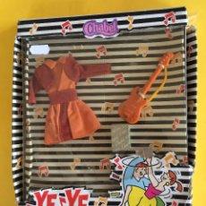Vestidos Muñecas Españolas: VESTIDO CHABEL YE YE , FALDA - AÑO 1990 - NUEVO EN CAJA. Lote 94906047