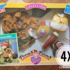 Vestidos Muñecas Españolas: 4X SET DE EXCURSIÓN MUÑECA POCAS PECAS - FEBER - DENENAS GUAPAS - DESCATALOGADO EN CAJA CERRADA. Lote 97982318