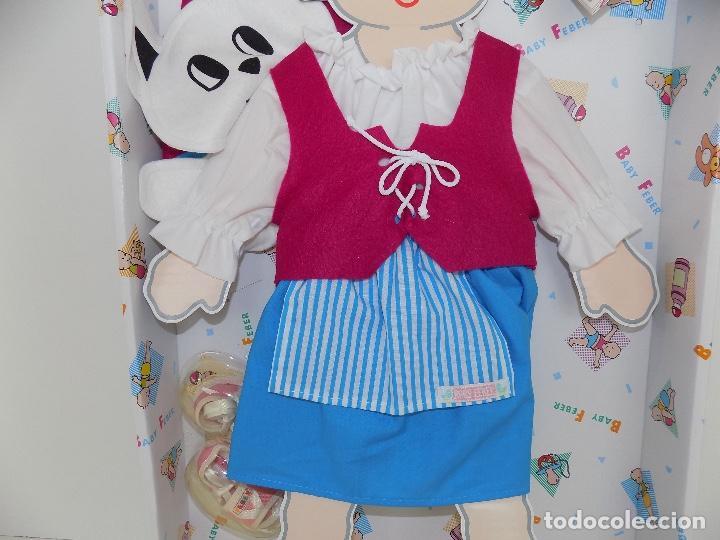 Vestidos Muñecas Españolas: Los Vestidos de tu Baby Feber (falda azul). Marca Feber Original años 80/90. Nuevo, a estrenar! - Foto 3 - 101978999