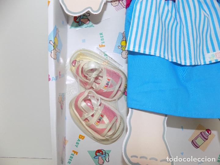 Vestidos Muñecas Españolas: Los Vestidos de tu Baby Feber (falda azul). Marca Feber Original años 80/90. Nuevo, a estrenar! - Foto 4 - 101978999