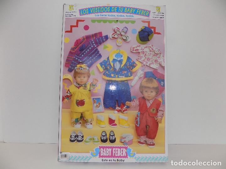 Vestidos Muñecas Españolas: Los Vestidos de tu Baby Feber (falda azul). Marca Feber Original años 80/90. Nuevo, a estrenar! - Foto 9 - 101978999