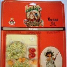 Vestidos Muñecas Españolas: LAURA DE LAS MONTAÑAS: VESTIDO VERANO. DE TOYSE. ¡¡NUEVO,MPECABLE!!. ORIGINAL . AÑOS 70.. Lote 113297847