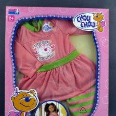 Vestidos Muñecas Españolas: CHOU CHOU ZAPF CREATION ALBORNOZ VESTIDO MUÑECA TAMAÑO NENUCO 2008 NUEVO SIN ABRIR. Lote 131227766