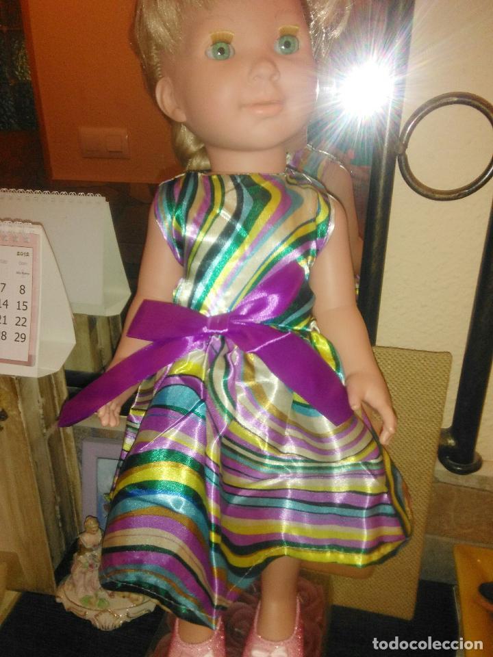 PRECIOSISIMO VESTIDO PARA MUÑECAS MIYO, BABY BORN, AMERICAN, NENUCA Y SIMILARES, VER FOTOS (Juguetes - Vestidos y Accesorios Muñeca Española Moderna)