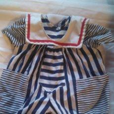 Vestidos Muñecas Españolas: PELELE VESTIDO GRANDE MUÑECA O MUÑECO MARINERO. Lote 116711854