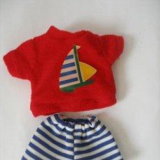 Vestidos Muñecas Españolas: CONJUNTO PLAYERO BABY MOCOSETE TOYSE SIN USO. Lote 128257555