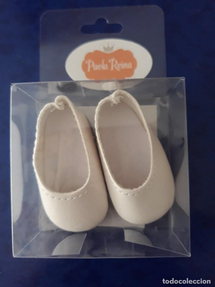 Vestidos Muñecas Españolas: Zapatos blancos para muñeca Paola Reina de 32cm - Foto 2 - 128889687