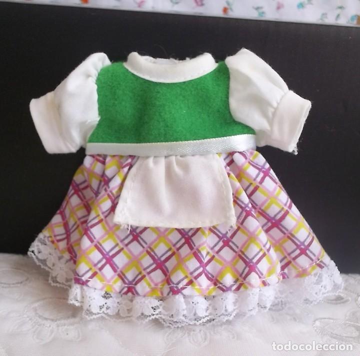 VESTIDO BARRIGUITAS CAPERUCITA ROJA (Juguetes - Vestidos y Accesorios Muñeca Española Moderna)