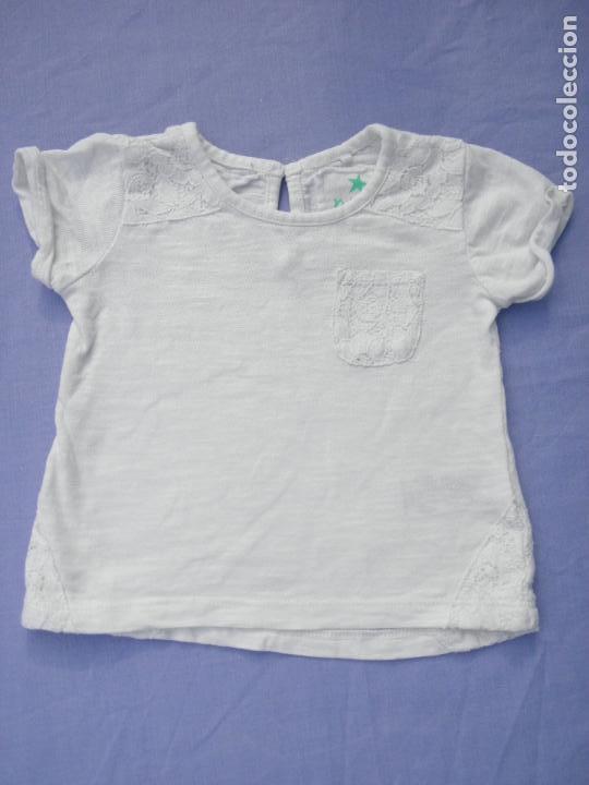 9d3861ef9 Camiseta blanca con encaje, para niña o muñeca reborn
