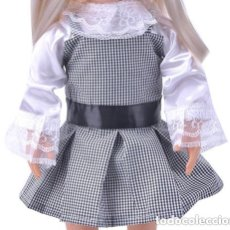Vestidos Muñecas Españolas: CONJUNTO BLUSA Y VESTIDO PARA MUÑECA AMERICAN GIRL, GIGGLES, MARIQUITA PEREZ, ETC. NUEVO A ESTRENAR. Lote 133418790