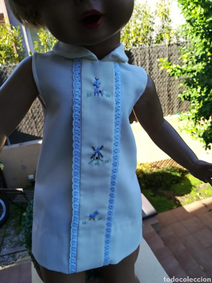 Vestidos Muñecas Españolas: Vestido de muñeca Guendalina antiguo de hilo bordado..55 - Foto 2 - 134096987