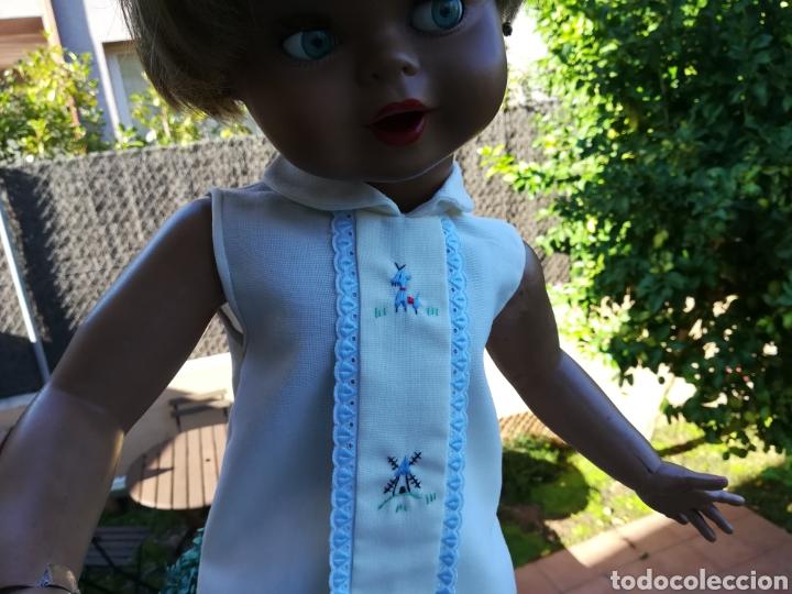 Vestidos Muñecas Españolas: Vestido de muñeca Guendalina antiguo de hilo bordado..55 - Foto 4 - 134096987