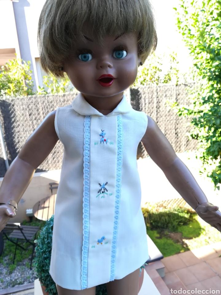 Vestidos Muñecas Españolas: Vestido de muñeca Guendalina antiguo de hilo bordado..55 - Foto 6 - 134096987