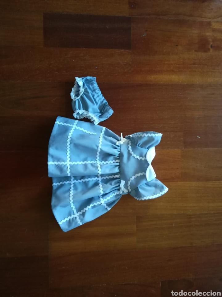 Vestidos Muñecas Españolas: Vestido de algodon y braguita a juego con piculina para muñeca de 50.-55 -64 - Foto 7 - 139165280