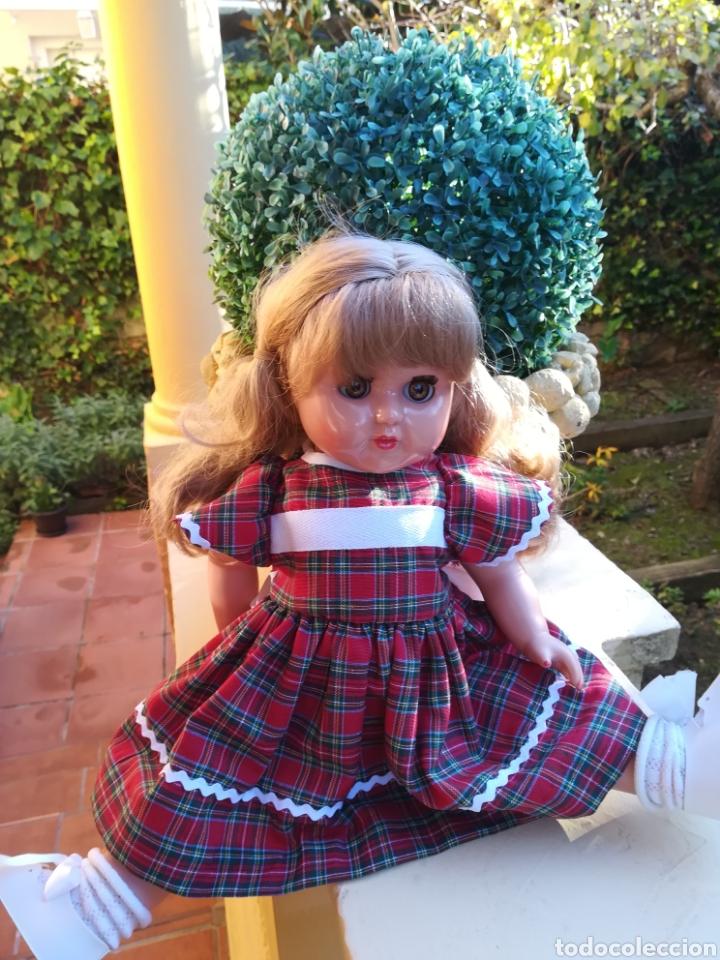 Vestidos Muñecas Españolas: Vestido cuadro escoces y braguita blanca para muñeca de 48 a 54 cm - Foto 3 - 139303650