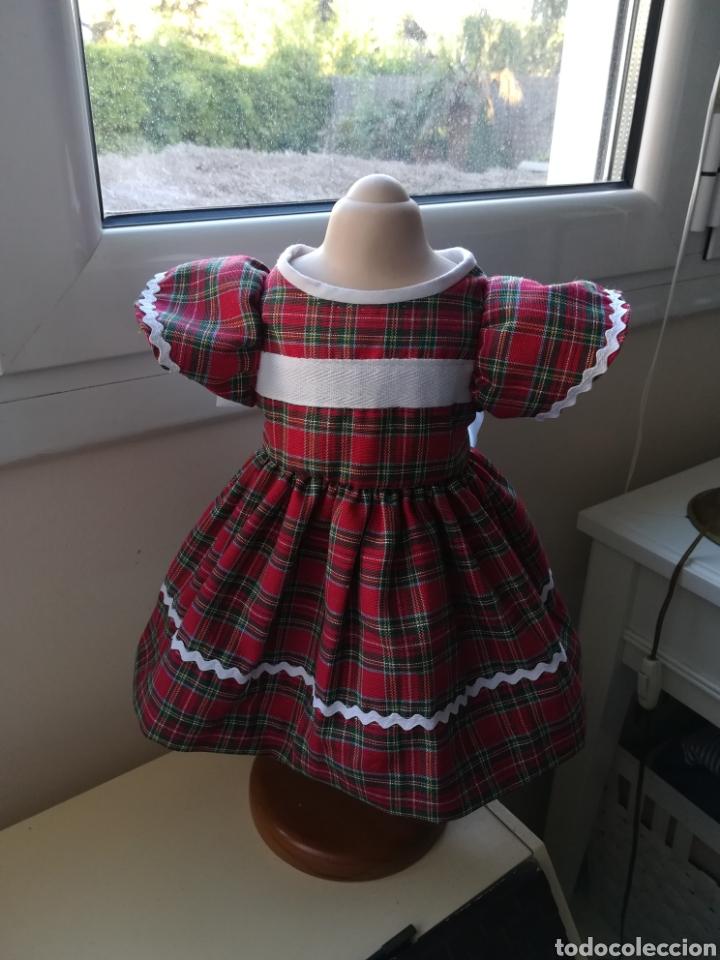 Vestidos Muñecas Españolas: Vestido cuadro escoces y braguita blanca para muñeca de 48 a 54 cm - Foto 5 - 139303650