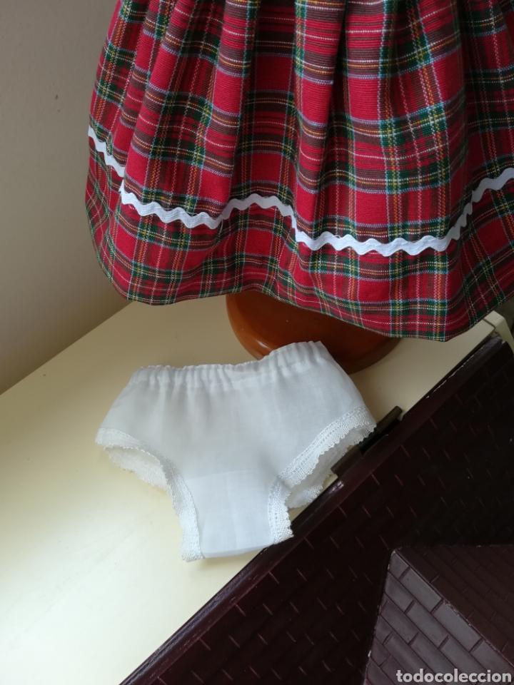 Vestidos Muñecas Españolas: Vestido cuadro escoces y braguita blanca para muñeca de 48 a 54 cm - Foto 6 - 139303650