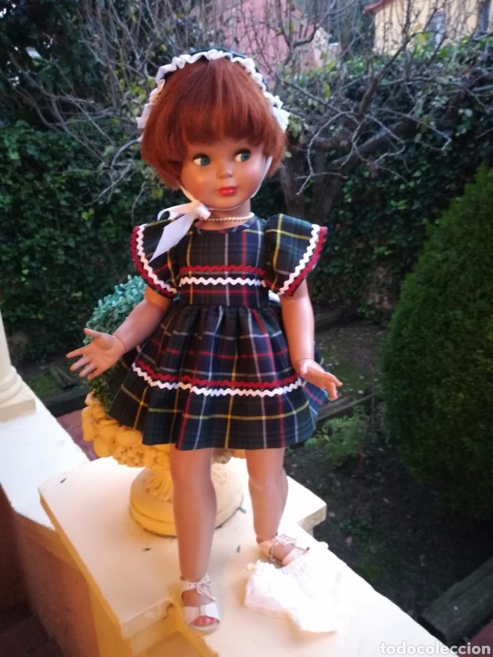 Vestidos Muñecas Españolas: Vestido escoces sombrerito y braguita para muñeca de 48 a 50 y 64 cm.,-V22 - Foto 2 - 139727081