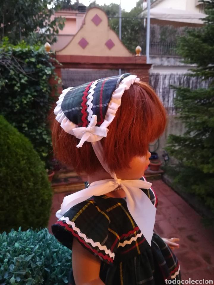 Vestidos Muñecas Españolas: Vestido escoces sombrerito y braguita para muñeca de 48 a 50 y 64 cm.,-V22 - Foto 3 - 139727081