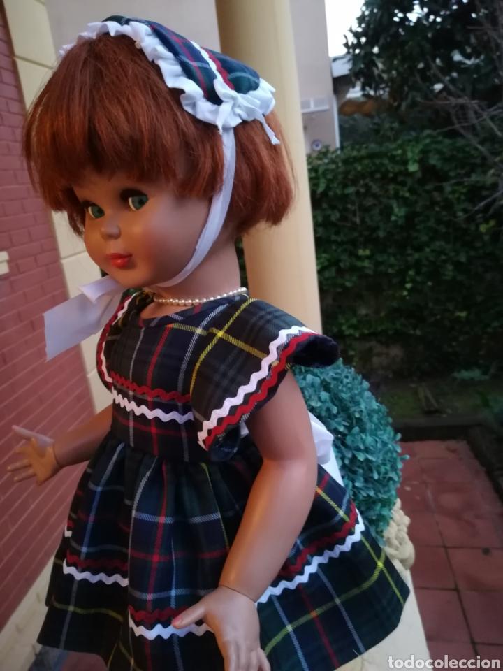 Vestidos Muñecas Españolas: Vestido escoces sombrerito y braguita para muñeca de 48 a 50 y 64 cm.,-V22 - Foto 5 - 139727081