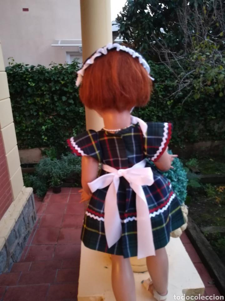Vestidos Muñecas Españolas: Vestido escoces sombrerito y braguita para muñeca de 48 a 50 y 64 cm.,-V22 - Foto 6 - 139727081