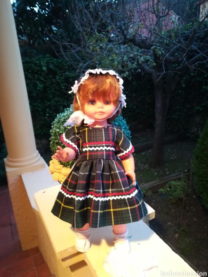Vestidos Muñecas Españolas: Vestido escoces sombrerito y braguita para muñeca de 48 a 50 y 64 cm.,-V22 - Foto 7 - 139727081