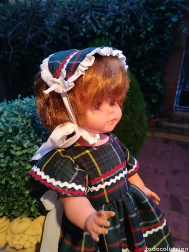 Vestidos Muñecas Españolas: Vestido escoces sombrerito y braguita para muñeca de 48 a 50 y 64 cm.,-V22 - Foto 8 - 139727081