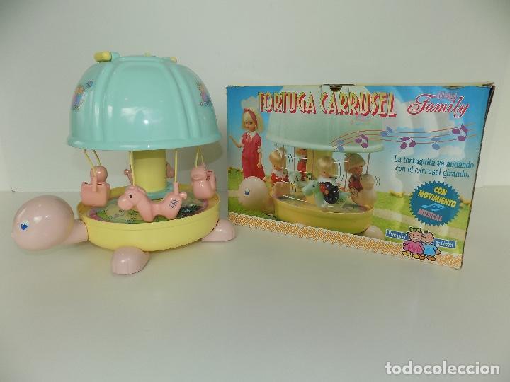 TORTUGA CARRUSEL CHABEL FAMILY. MARCA FEBER. ORIGINAL AÑOS 80/90. NUEVO, A ESTRENAR! (Juguetes - Vestidos y Accesorios Muñeca Española Moderna)