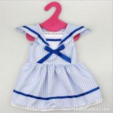 Vestidos Muñecas Españolas: PRECIOSO VESTIDO DE ESTILO MARINERO PARA MUÑECA AMERICAN GIRL, GIGGLES, MARIQUITA PEREZ, ETC. NUEVO. Lote 143941674
